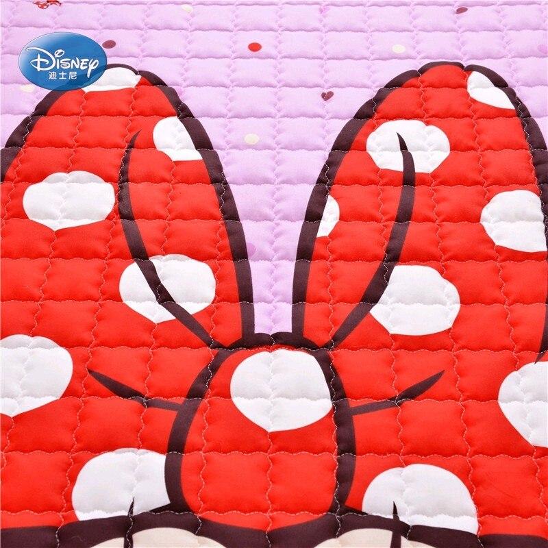Disney Cartoon rose Minnie Mickey Mouse bébé filles garçons ramper jeu tapis tapis 150X200 CM tapis 100% coton - 5