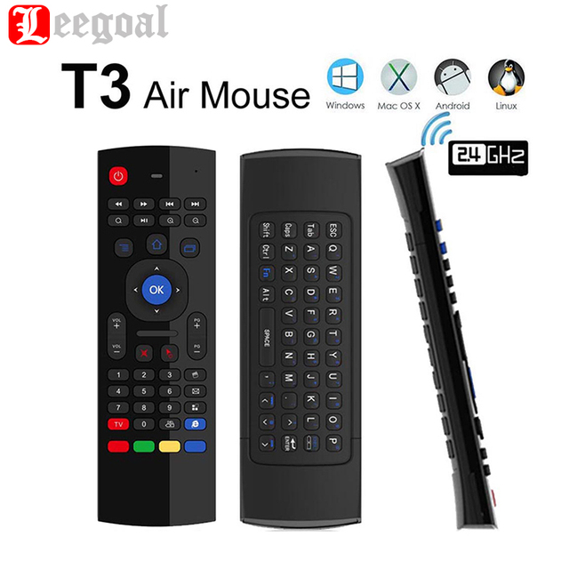 MX3 M Keyboard 2.4G Remote Control Qwerty Wireless Keyboard+Air Fly Mouse+IR Smart Remote Control For Android TV Box PC Tablet