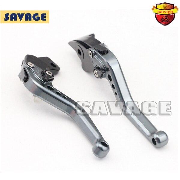 ФОТО For SUZUKI GW250 SFV650 DL650 V-STROM Motorcycle Accessories CNC Billet Aluminum Short Brake Clutch Levers Titanium