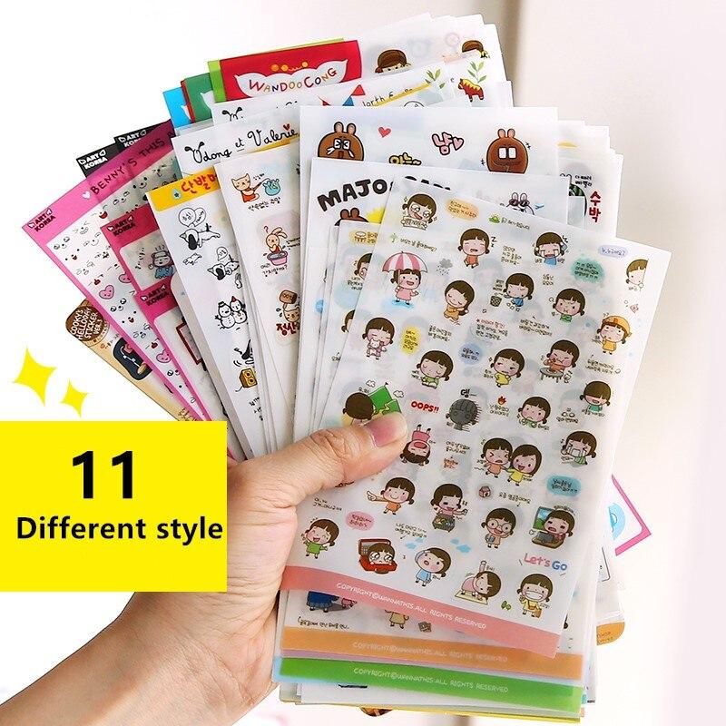 Bonito molang coelho dos desenhos animados animais adesivo pvc desenhos animados adesivos diário adesivo scrapbook decoração papelaria adesivos