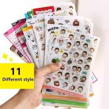 Cute Molang Rabbit Cartoon Animals Sticker Pvc Stickers Diary Scrapbook Decoration Stationery - discount item  23% OFF Stationery Sticker