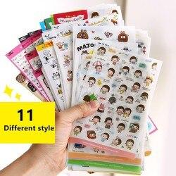 Śliczne Molang królik zwierzęta kreskówkowe naklejki pcv Cartoon naklejki karteczki do terminarza scrapbooking dekoracyjna papeteria naklejki diary stickers stationery stickersticker diary -