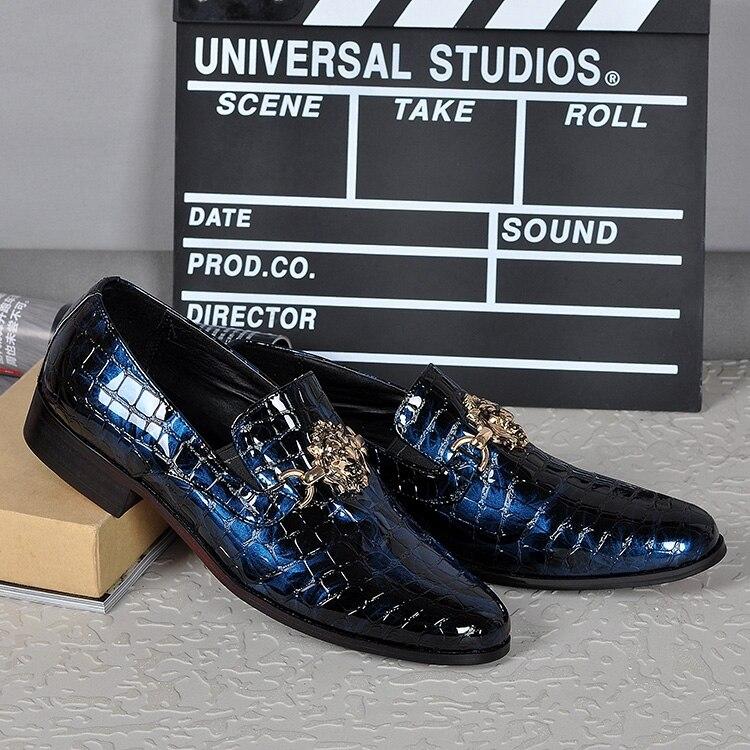 Couro Moda Hombre Boate Apartamentos Dos Quatro Jacaré Homens Do Zapatillas Show Bling Show Sapatos Estações As Laofers Casamento De Zapatos Festa as EPEaqt