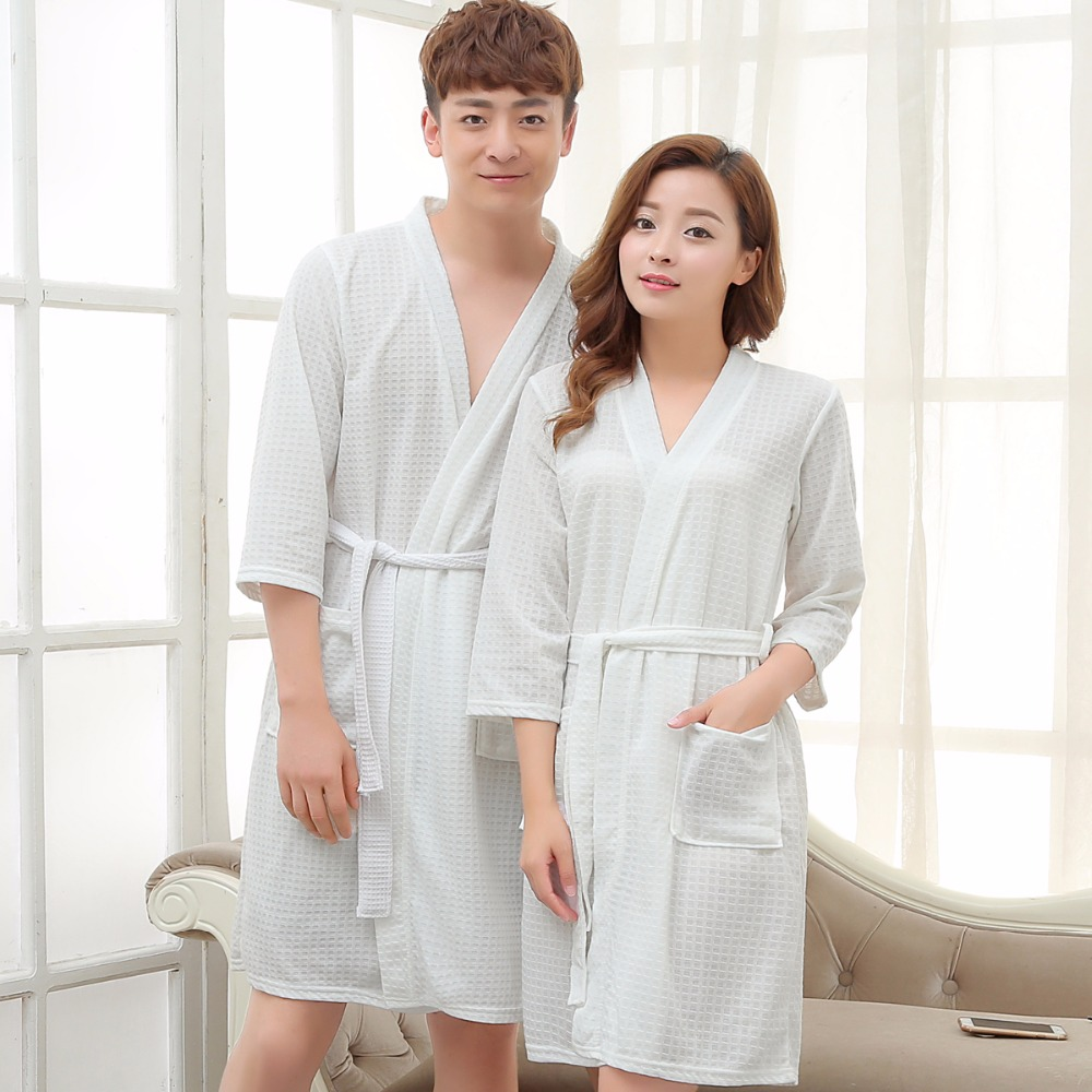 d14f20759b Detail Feedback Questions about Lovers Kimono Waffle Bath Robe Elegant Bathrobe  Women Men Dressing Gown Bride Wedding Bridesmaid Robes Night Gown for Women  ...
