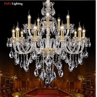 Modern New K9 Modern Crystal lustres de cristal Decoration Chandeliers and Pendants Silver/gold 6/8/15/18 arms for Living Room