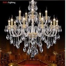 Modern yeni K9 Modern kristal lustres de cristal dekorasyon avizeler ve kolye gümüş/altın 6/8/15 /18 arms oturma odası için