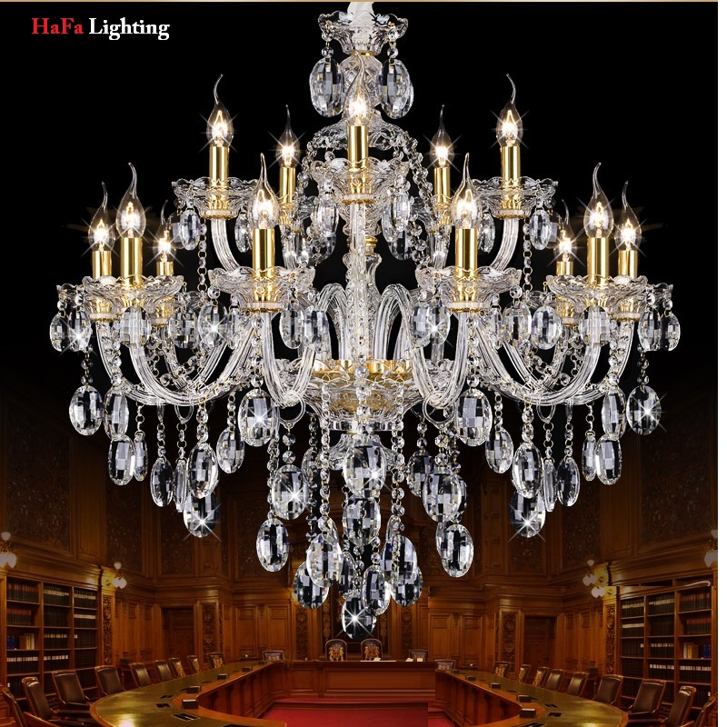 New K9 Modern Crystal lustres de cristal Decoration Chandeliers and Pendants Silver/gold 6/8/15/18 arms for Living Room ship from germany crystal candle decoration chandelier pendant 10 arms lamp lustres de cristal chandeliers