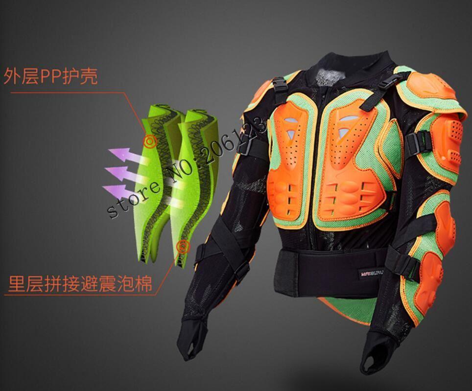 Veste de moto veste d'équitation de moto armure complète du corps pour hommes équipement de Protection de la poitrine de la colonne vertébrale bord rouge édition de luxe S-XXXL