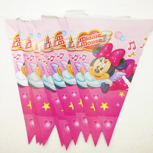 Leqemao 2nd Birthday Party Ideas Multicolor Flags Minnie