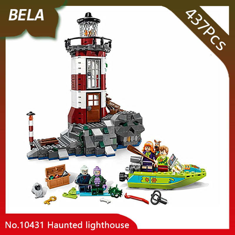 Bela 10431 437pcs Scooby Doo Haunted lighthouse Model Building Blocks Bricks Toys Compatible with Legoings Scooby Doo 75903 bela scooby doo haunted lighthouse building block model kits scooby doo marvel toys compatible legoe