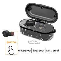 IPX8 Waterproof Bluetooth Earphone Mini In Ear Ecouteur Sport Car Magnetic Charge Wireless Swim Headset For iPhone Xiaomi Watch