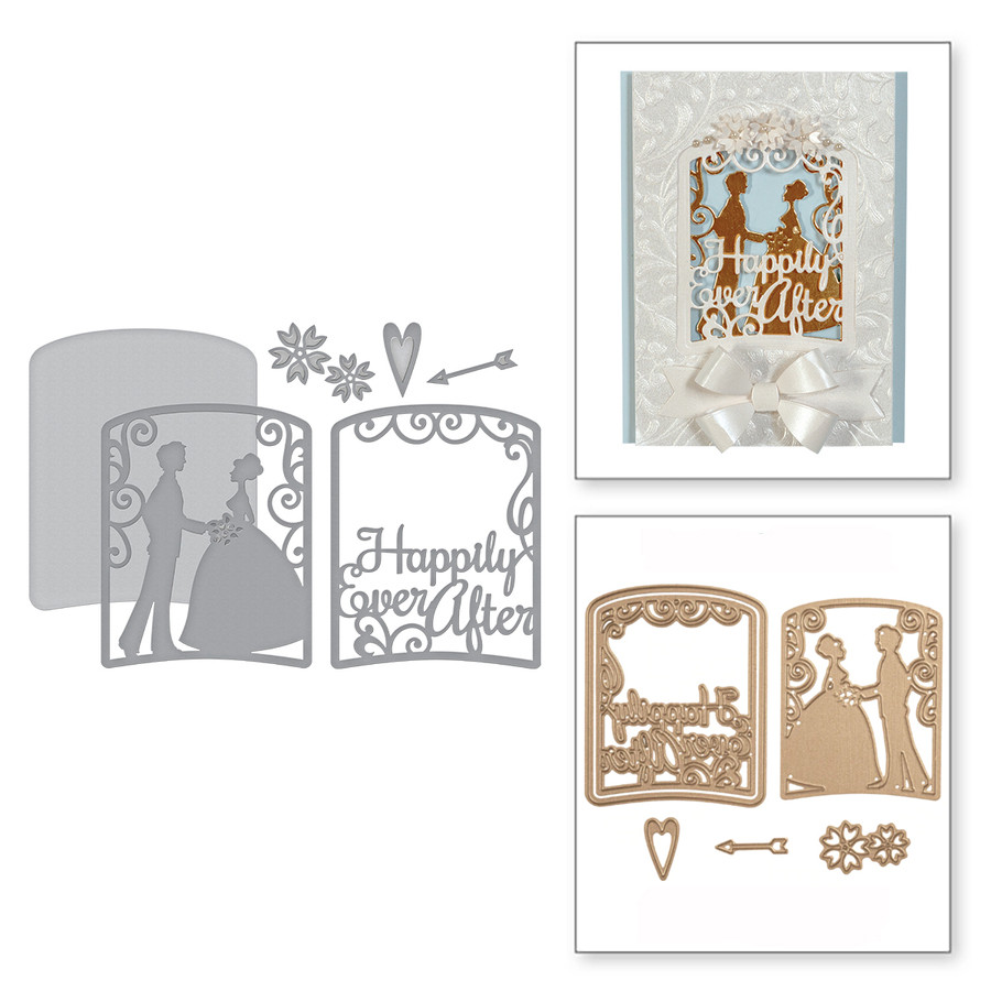 Layered Happily Ever After Metal Cutting Dies Stencil for Scrapbooking Photo Album Card Paper Embossing Craft DIY Cutting Dies image