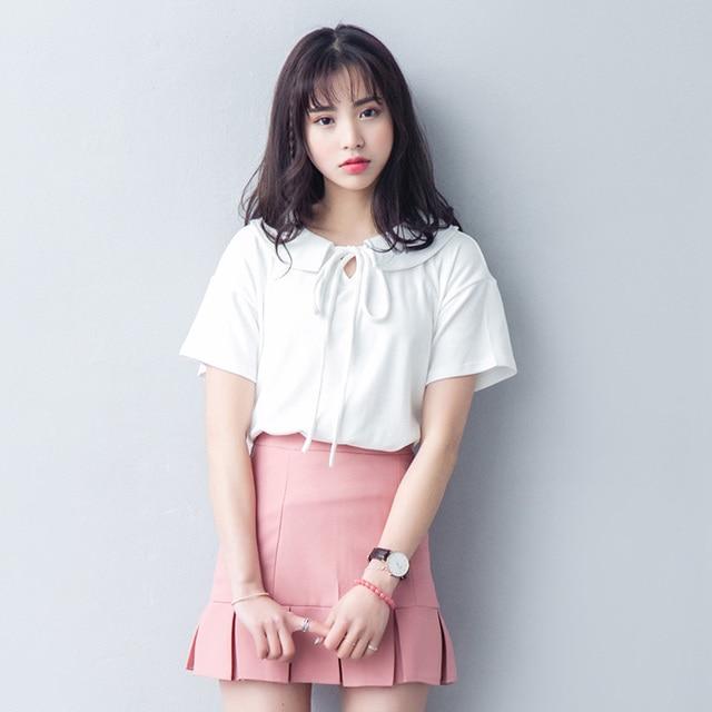 harajuku shirt women t-shirt women t shirt 2017 tshirt women tops korean spring plus size summer kawaii rock lace t shirt women