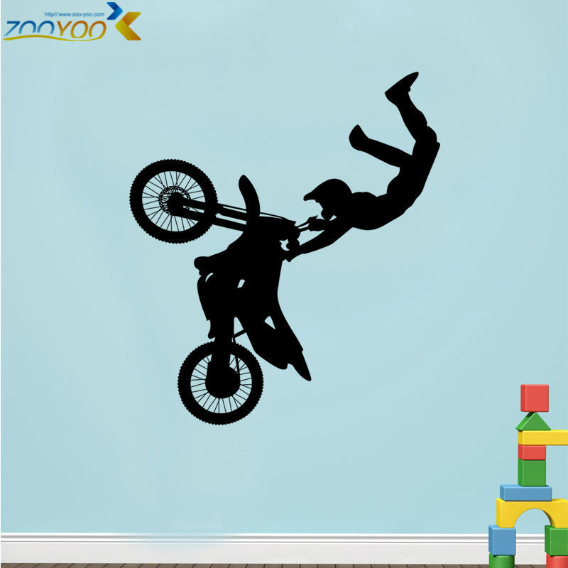 motor bike for kids rooms sport wall decals bedroom wall stickers diy decorations tattoos removable