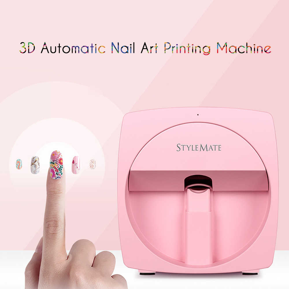 Stylemate โทรศัพท์มือถือเครื่องพิมพ์เล็บ 3D อัตโนมัติเล็บภาพวาดง่ายทั้งหมด-อัจฉริยะพิมพ์ Manicure อุปกรณ์ O'2nails