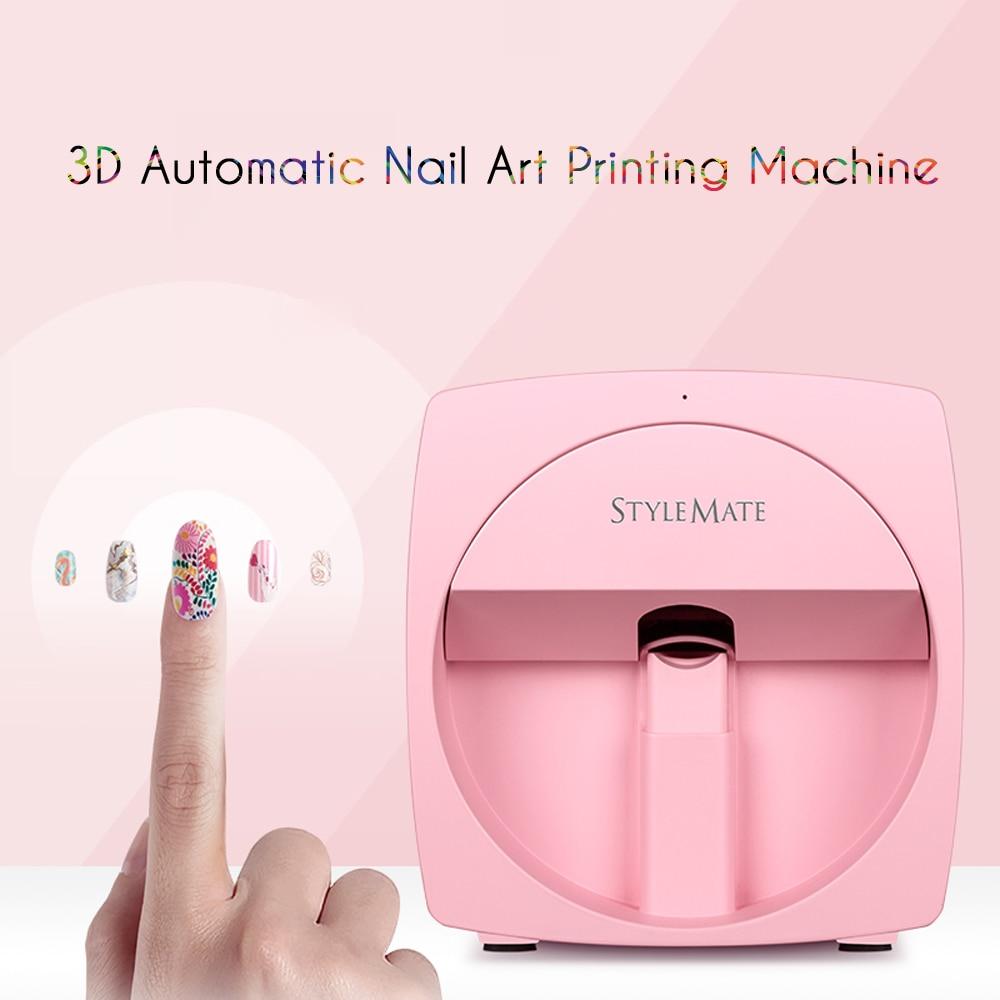Nail Art Machine Printer: Stylemate Mobile Nail Printer 3D Automatic Nail Painting