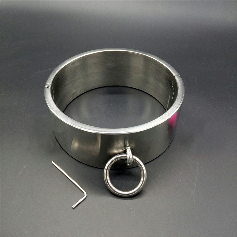 HOT Heavy duty height 6cm stainless steel slave collar metal collar bdsm bondage fetish erotic toys sex toys for couples