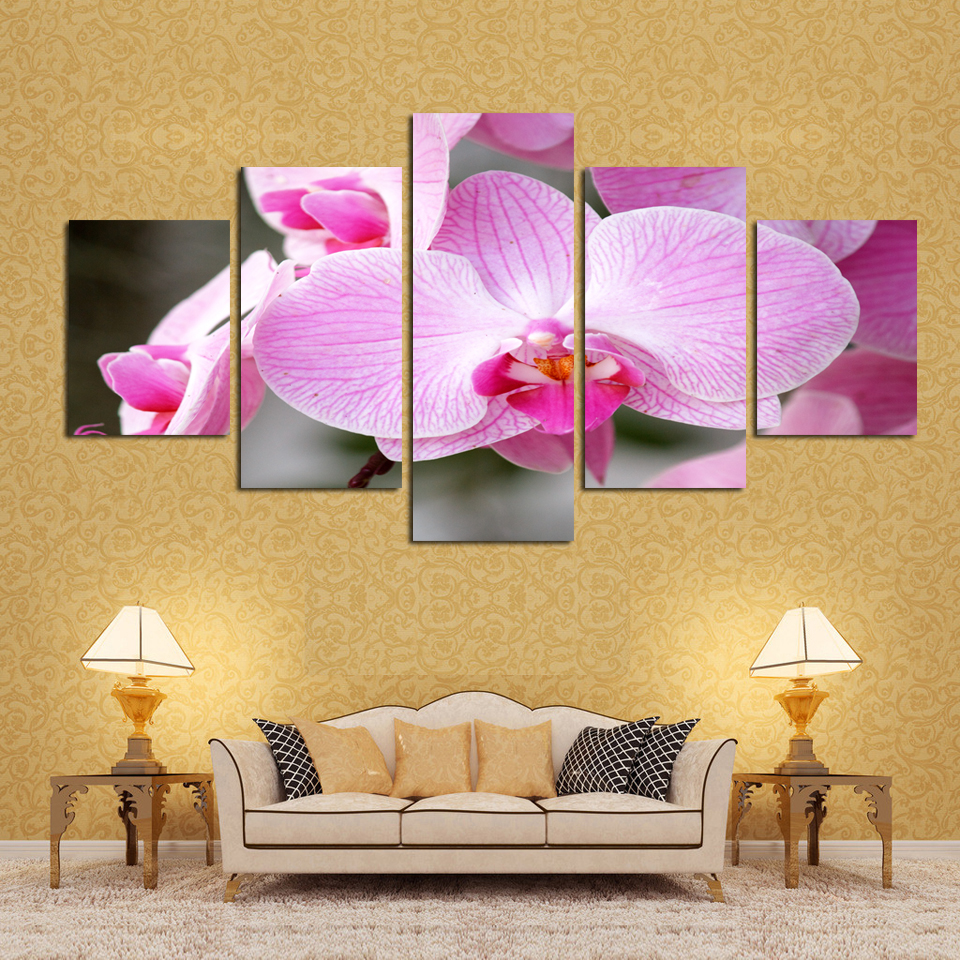 Modern Wall Decor Flower Painting Sketch - Wall Art Collections ...