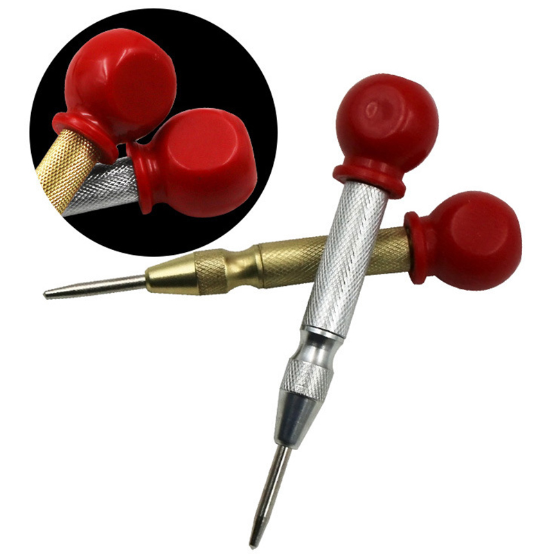 5 inch Automatic Center Punch Spring Loaded Marking Starting Holes Tool Wood Press Dent Marker Woodwork Tool Hole Drill Bits