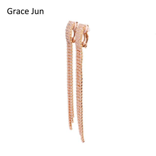 Grace Jun Tm 18k Gold Copper Material Clip On Earring No Pierced Fine Jewelry