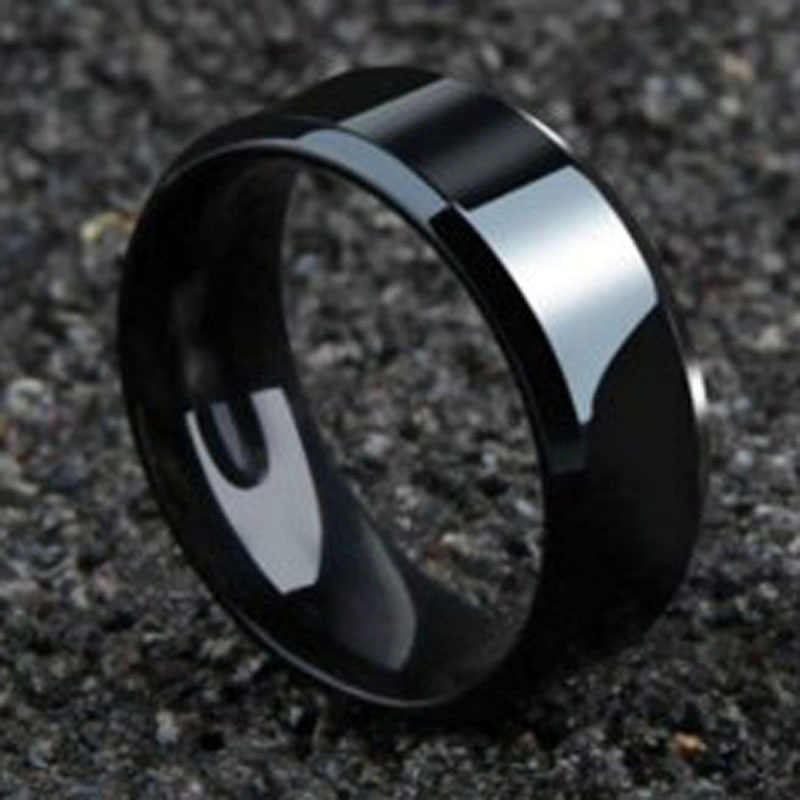 2018 Punk Ring Jewelry BlackTitanium Ring for Men Woman Party Jewelry Wedding Jeweley Gifts Accessories New