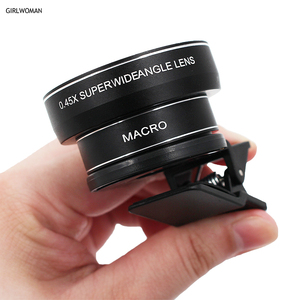Girlwoman HD Camera Lens Phone Lens kit 0.45x Super Wide Angle & 12.5x Super Macro Lens for iphone 7 6s 8 Huawei Honor Xiaomi 4x