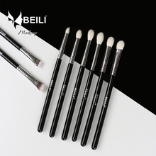 BEILI 8pcs Classic Black Pro tool Goat synthetic Hair Eye shadow Brow Blending smoky Makeup Brush Set