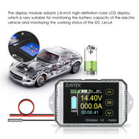 VAT 1030 JUNTEK Wireless Bi directional Voltage Current Power Meter Voltmeter Capacity Coulomb Counter DC100V/30A VAT1030