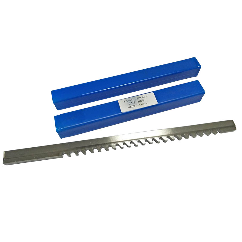 HSS 6mm C1 Push-Type Keyway Broach Metric Size HSS Keyway Cutting Tool For CNC Metalworking C1/6 Keyway Broach Wholesale