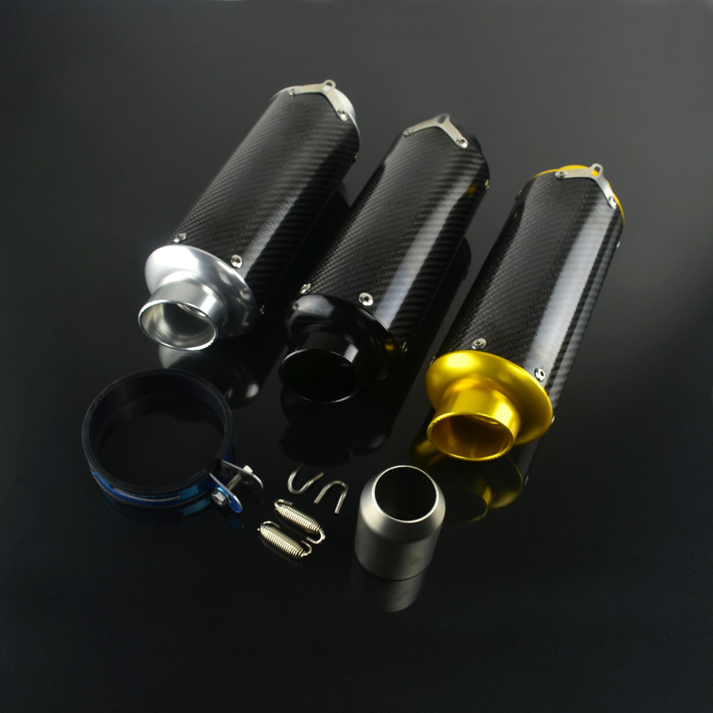 Motorcycle 38MM 51MM Adaptor Muffler Aluminum New Carbon Fiber For HONDA CB400 CBR600 YAMAHA YZF R6 SUZUKI GSXR600 цена