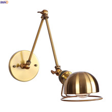 IWHD Лофт стиль качели длинные руки Ретро настенный светильник s светильники Домашний Светильник Wandlamp Edison винтажный настенный светильник бра светодиодный светильник для лестницы
