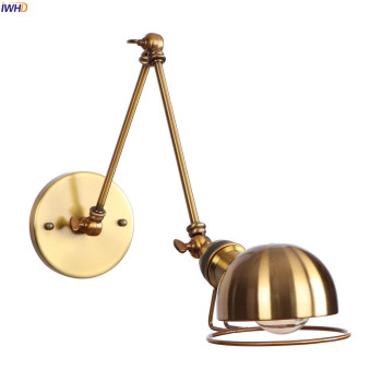 IWHD Loft Style Swing Long Arm Retro Wall Lights Fixtures Home Lighting Wandlamp Edison Vintage Wall Lamp Sconce LED Stair Light iwhd adjustable arm led wall light vintage industrial lighting wall lamp style loft retro iron sconce luminaire on the wall