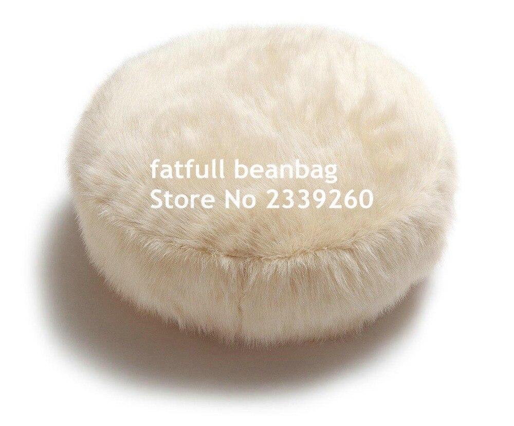 Designer cloth sofa drip sofa hotel lobby sofa china mainland - Cover Only No Filler Round Island Design Original Bean Bag Fur Lounger Elegant And