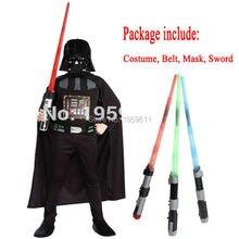 Darth Vader(Anakin Skywalker) I Bambini Del Ragazzo Darth Vader Tuta Costume Cosplay Bambini Movie Costume Con La Spada