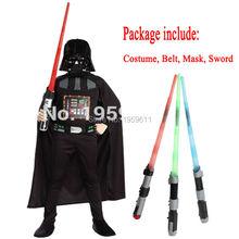 Darth Vader(Anakin Skywalker) Kids Boy Darth Vader Cosplay Costume Suit  Kids Movie Costume With Sword