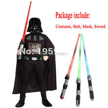 Darth Vader(Anakin Skywalker) Kids Jongen Darth Vader Cosplay Kostuum Pak Kids Movie Kostuum Met Zwaard