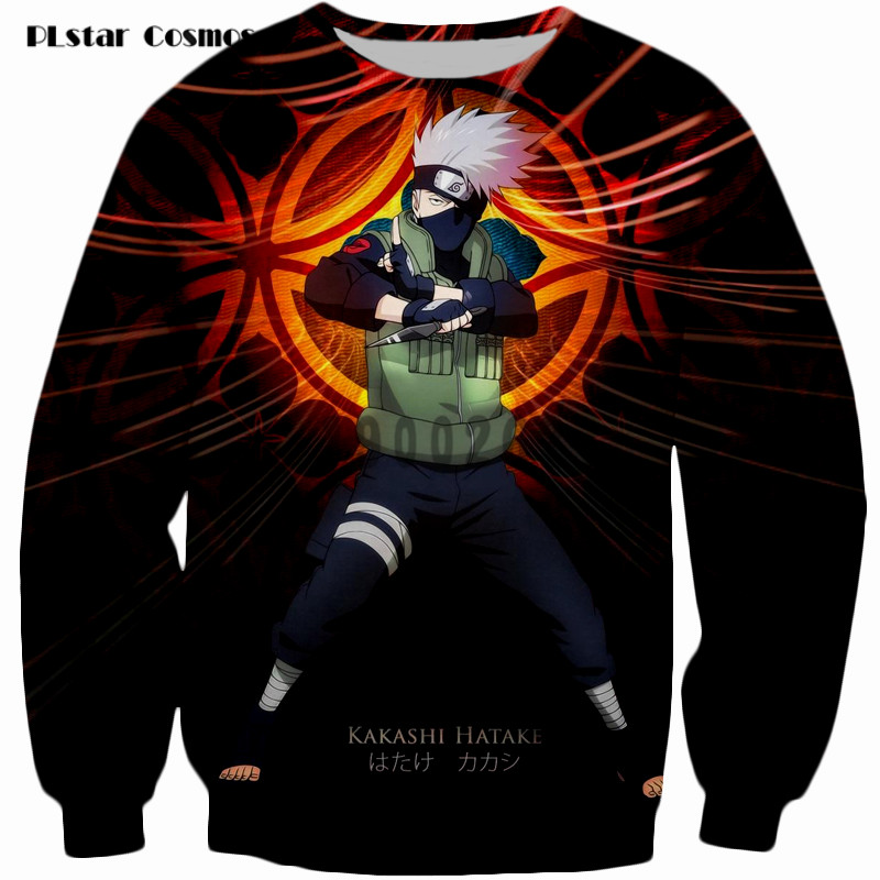 PLstar Cosmos brand Harajuku Sweatshirt Hatake Kakashi Sweats Women Men Japanese anime Jumper Tops Outfits size S-5XL