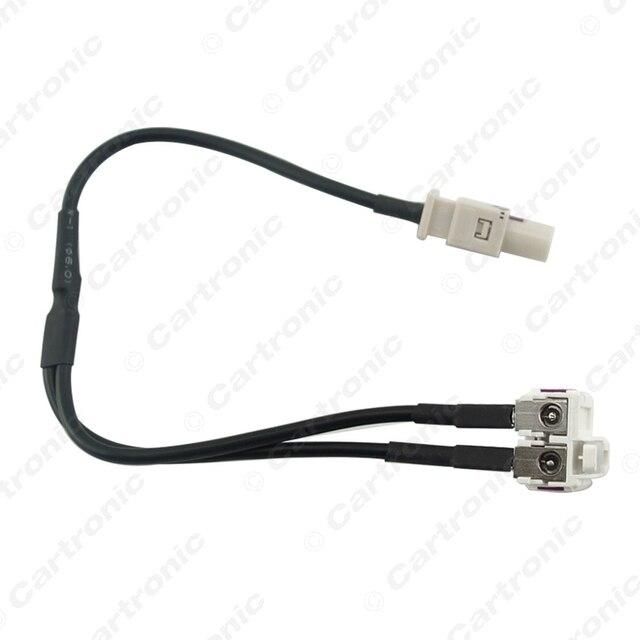 10 unids 2 En 1 Diversidad Reanudar Convertidor Splitter y Cable ...