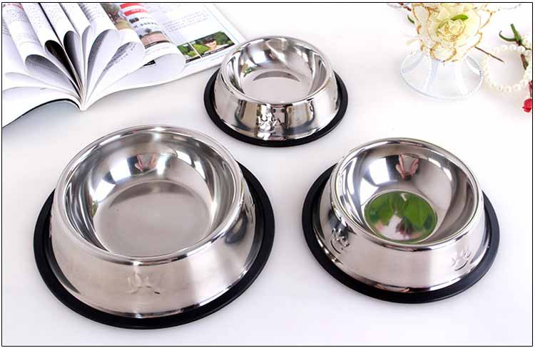 Stainless Steel Dog Feeders Pet Utensils Dog Bowl for Dogs Puppy Food Bowl Durable and Antiskid 6 sizes Pets Products Wholesale4