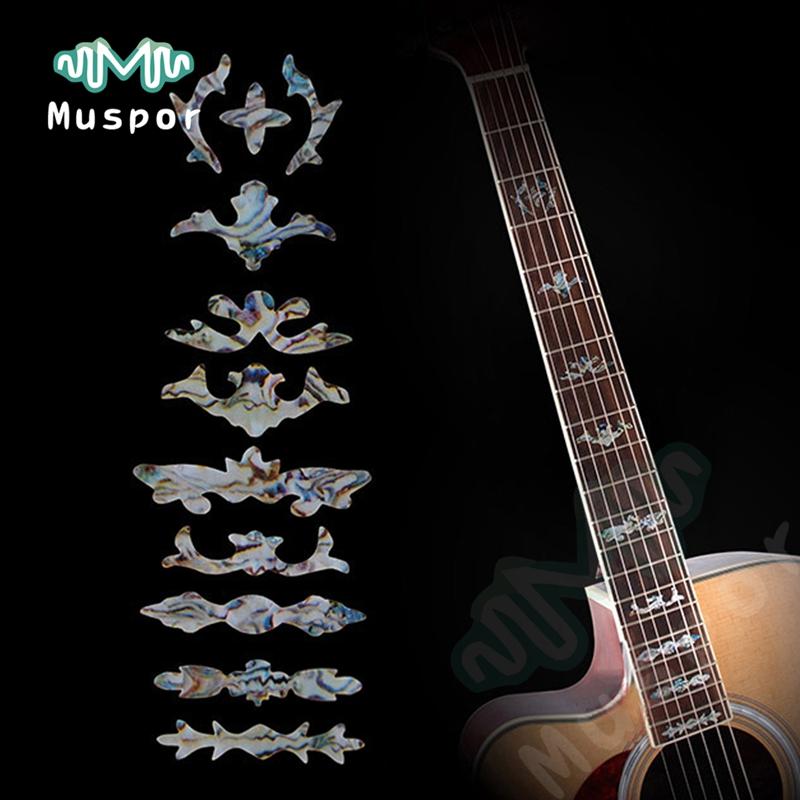 23 Guitarra Bajo Incrustación Pegatina Fretboard Marcador Fret Calcomanía Decorar Para 19 20 21 22 24 Frets Guitarra Acústica Eléctrica Plata