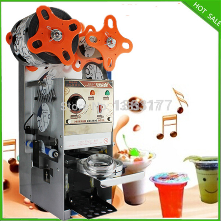 free shipping AC220V Cup Sealing Machine for food and drink package,automatic cup sealer,bubble tea cup sealing machine 220v semi automatic bubble tea cup sealing machine cup sealer wy 168 page 7