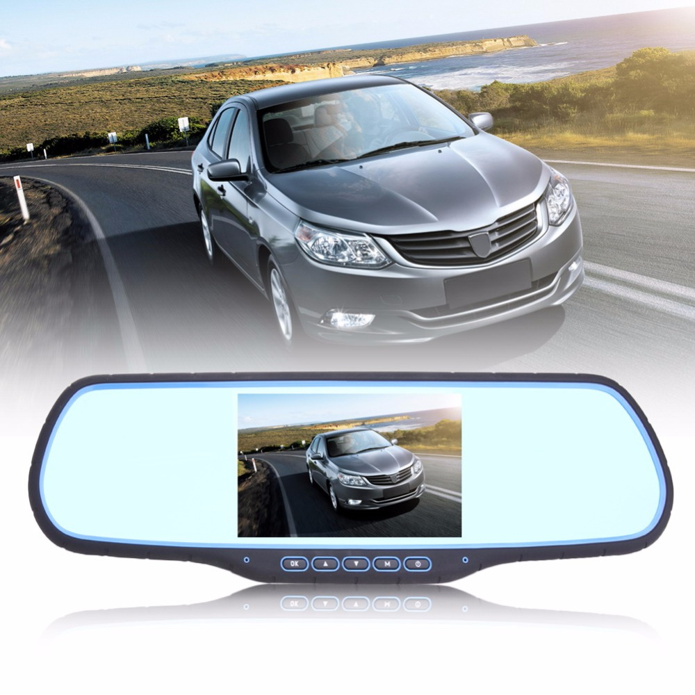5 Dual Lens 1080P High Definition Car DVR Camera GPS Navigation Rearview Mirror Auto Dashcam w/ FM Transmitter WIFI Function car mp5 player bluetooth hd 2 din 7 inch touch screen with gps navigation rear view camera auto fm radio autoradio ios