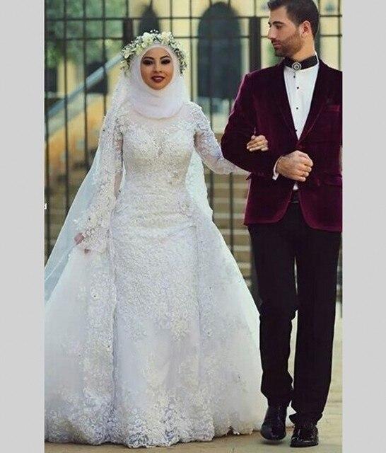 Online Shop Arab Hijab Saudi Arabia Muslim Wedding Dresses Long ...