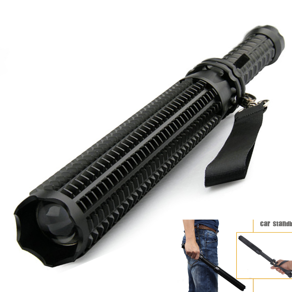 Super Torch Telescopic Baton for Self Defense Flashlight 18650 Battery Rechargeable Car Lamp Waterproof Tactical Flashlight 29W