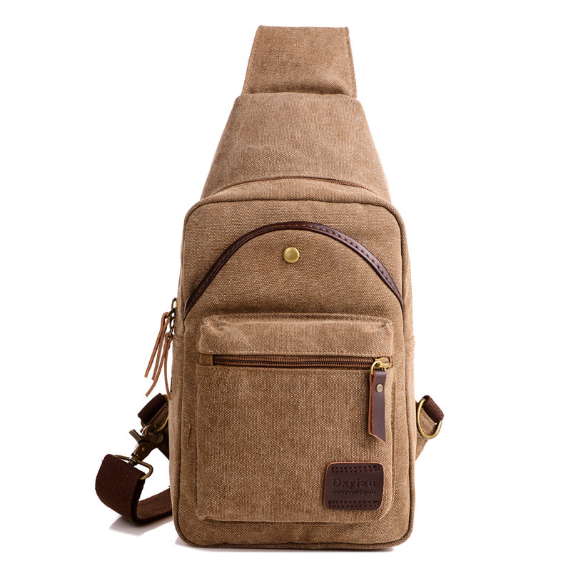 Men Canvas Sling Chest Day Back Pack Bag Travel High Capacity Brand Famous Cross Body Single Rucksack Shoulder Messenger Bags