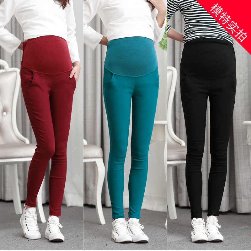 Fashion pregnant women autumn and winter Korean pants trousers belly Slim was thin pencil feet pants