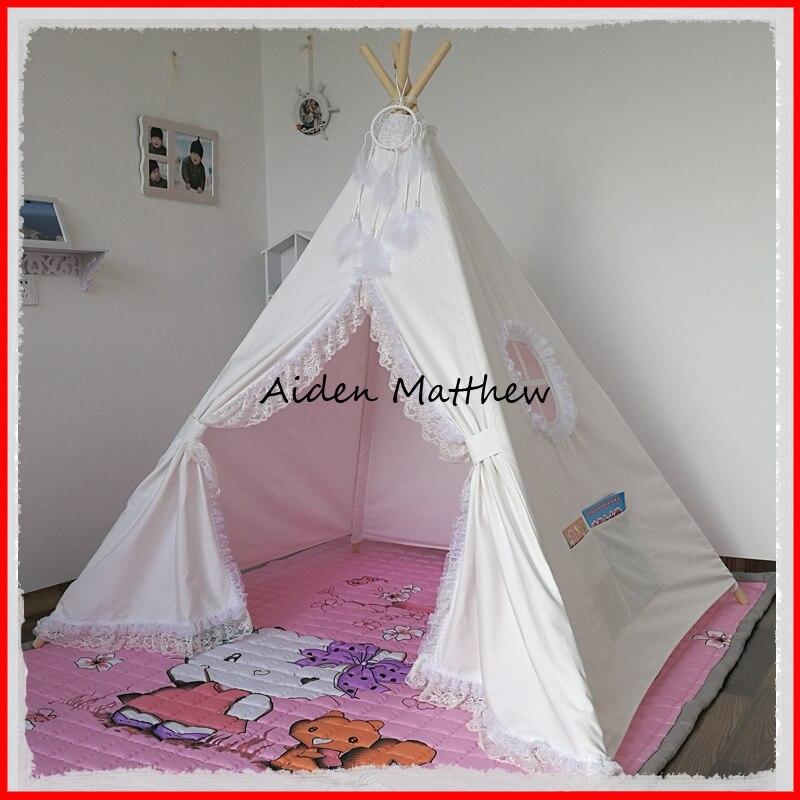 Hot Sale Indian Wood Tent Princess Teepee Tent hot sale cayler
