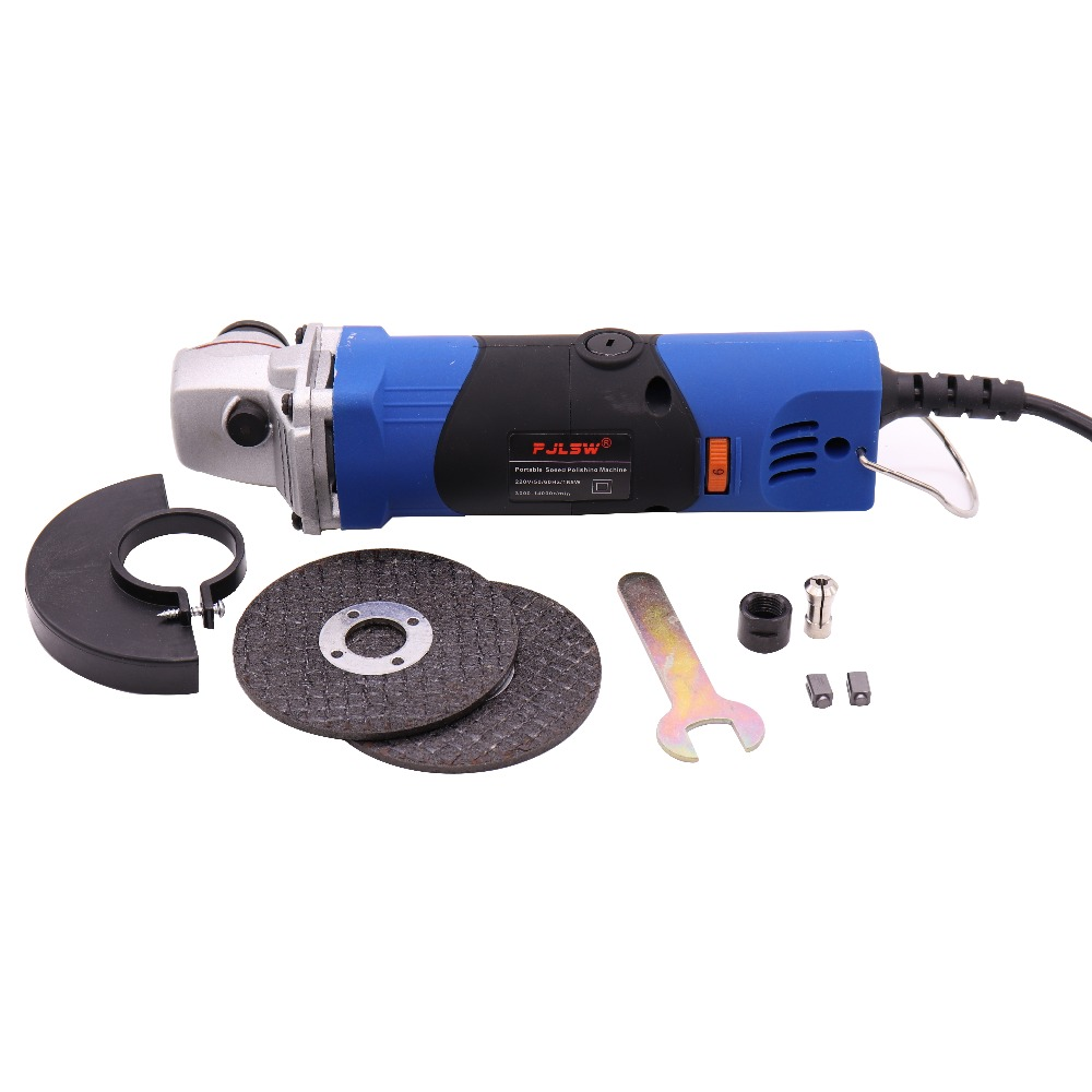 PJLSW 220V 165W Adjustable speed mini polishing machine angle grinder cutting machine multi-function grinding machine купить недорого в Москве
