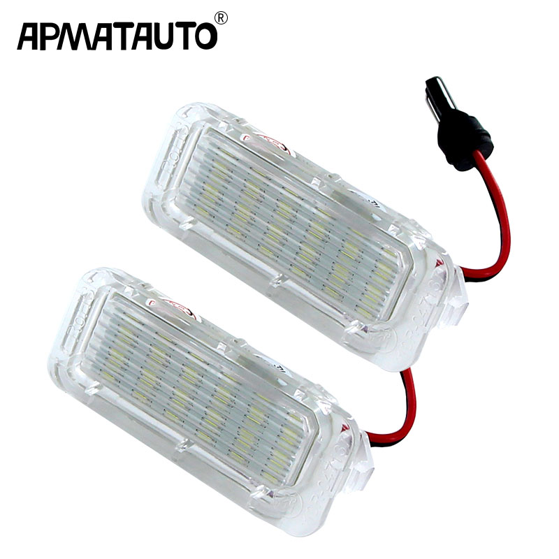 2pcs White Canbus 12v LED Number License Plate Light Lamp For Focus 5D/Fiesta/Mondeo MK4/C-Max MK2/S-Max/Kuga/Galaxy
