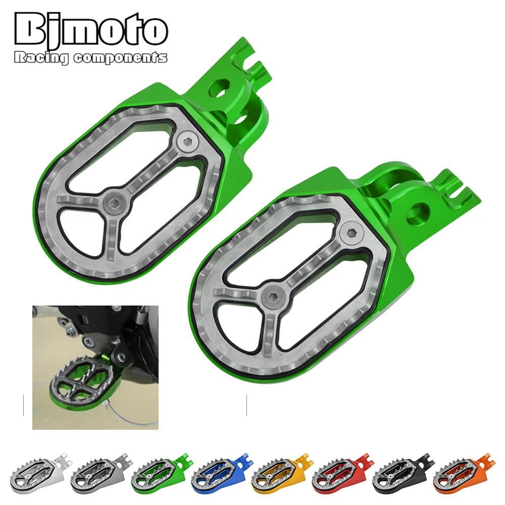 Bjmoto CNC Dirt Bike Rearset Foot Peg Pedals Rest Footrest For Kawasaki KX450F 2007-2015 KLX450 KX250 HONDA CFR250X/R CRF150R